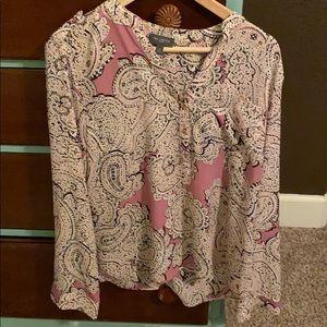 Banana Republic patterned blouse